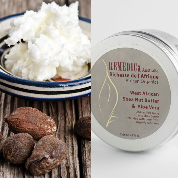 Raw, Seed and packaged Shea Butter